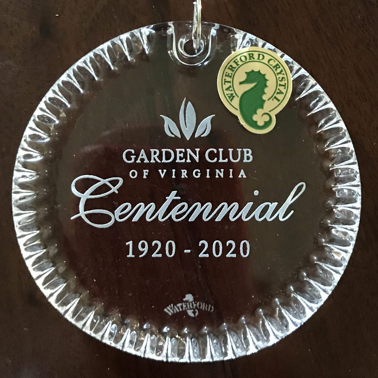 Garden Club of Virginia Waterford Crystal Centennial Keepsake