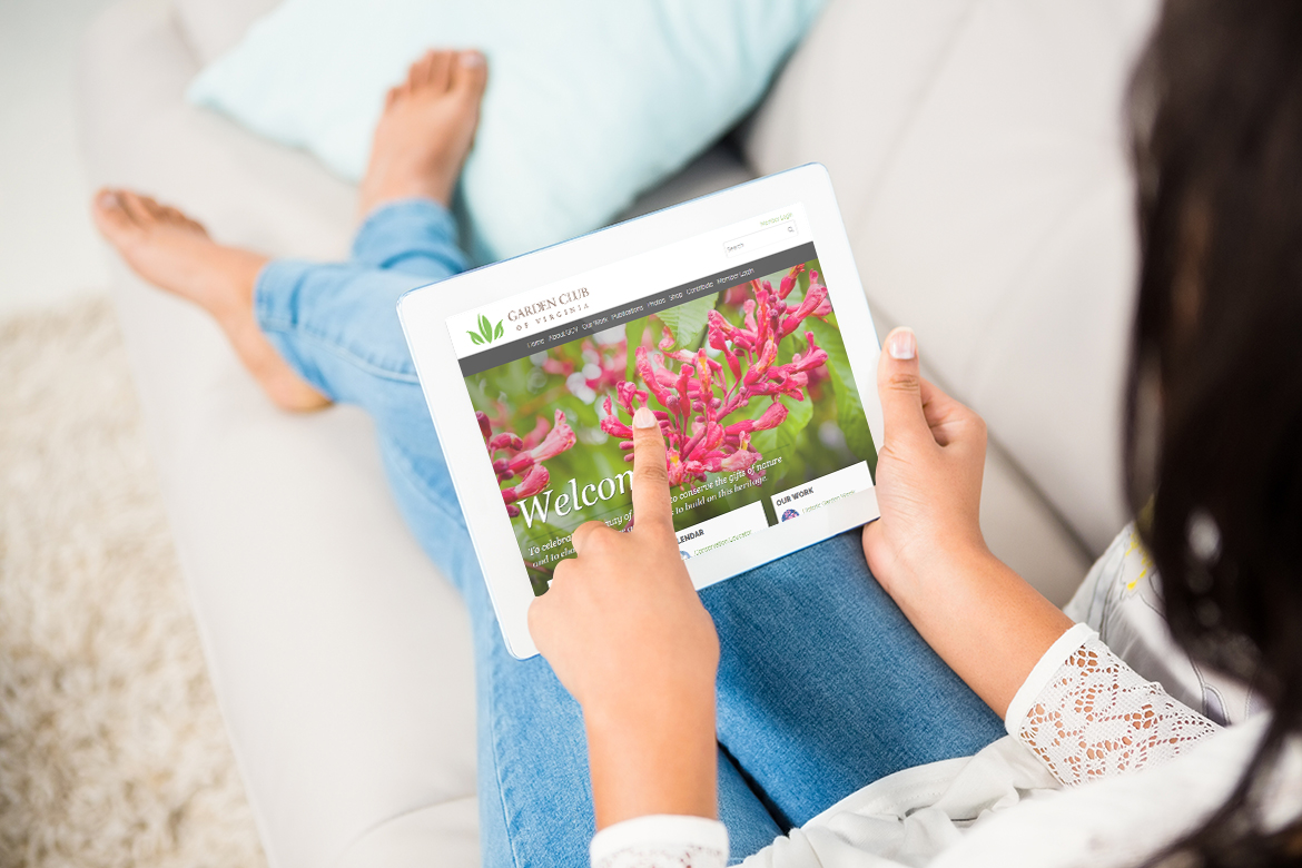 The latest website upgrade for the Garden Club of Virginia
