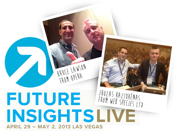 James Eastman Meeting with Top Web Development Speakers at Future Insights Live 2013